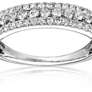 10k White Gold Diamond (1/2cttw, H-I Color, I2-I3 Clarity) Anniversary Ring, Size 7