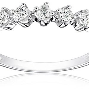 14k Gold Five-Stone Shared-Prong Diamond Ring (1/4 cttw, I-J Color, I1-I2 Clarity)
