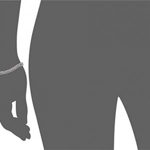 Amazon Collection Women's Sterling Silver Chain Bracelet