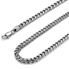 FIBO STEEL 3-6mm Curb Chain Necklace for Men Stainless Steel Biker Punk Style, 16-36 inches