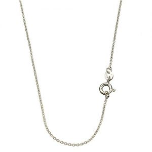 Sterling Silver 1.3mm Fine Cable Nickel Free Chain Necklace 14″-24″