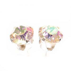 925 Sterling-silver stud earrings expertly made with Luminous Green crystal from SWAROVSKI