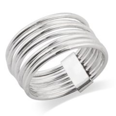 Mimi 925 Sterling Silver 7 Day 7 Band Stacked Stacking Band Ring