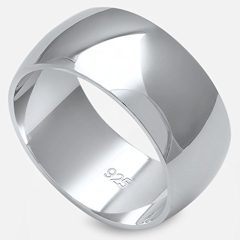 Oxford Diamond Co Solid Sterling Silver Women's Mens Unisex Wedding Band Ring Comfort 2-10mm Sizes 2-16 Colors Available