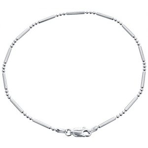 Italian Sterling Silver Lobster Claw Clasp Foot Chain Anklet Ankle Bracelets