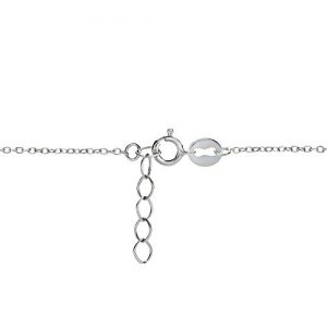 Hoops & Loops Sterling Silver Open Hearts Chain Anklet