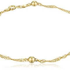 Sterling Silver Singapore-Chain Anklet