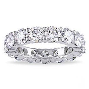 5.00mm 925 Sterling Silver Cubic Zirconia Fashion Ring – Eternity, Engagement, Wedding Band