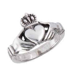 .925 Sterling Silver Traditional Claddagh Celtic Ring