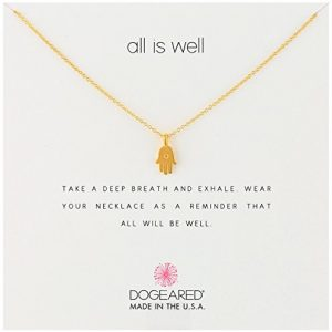 Dogeared All Is Well-Hamsa Necklace, 16″