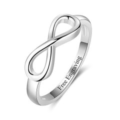 Free Engraving Infinity Knot BFF Friendship Rings for Women Personalized Sterling Silver Sisters Best Friends Rings…