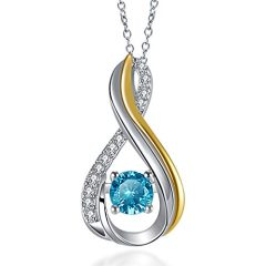 Vibrille Sterling Silver Pendant Necklace for Women and Girls